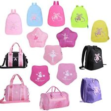 Kids Girls Ballet Dance Backpack  Shoulder Bag  Toe Shoes Embroidered School