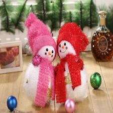 Christmas Holiday Tinsel Snowman Doll Ornament Christmas Gifts Home Decor