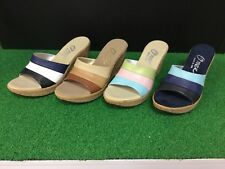 NIB Onex Women's Balero Slip On Cork Wedge Color Sandals Size 37 I
