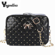 Women Messenger Bags Chain Shoulder Bag PU Leather Crossbody Quiled Crown bags