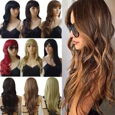 Natural Thick Hair Wig Women Long Straight Curly Cosplay Synthetic Full Wig Th88