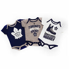 Toronto Maple Leafs NHL Baby Hat Trick 3-pc Creeper Set