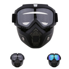 Anti-Fog Face Mask Shield Goggles Motorcycle Helmet Detachable Eyewear