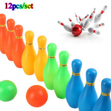 12pcs/set New Plastic Bowling Set Leisure Toys 2pcs Bowling Balls+10pcs Pins Fun