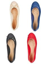 JD Williams, Wide Fit Leather Ballet Flats Shoes. Size 4-9  E EEE Heavenly soles