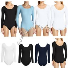 Sexy Women's Gymnastics Long Sleeved Body Top Leotard Ballet Dance Bodysuit New