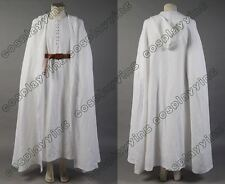 Lord of the Rings Gandalf White Cosplay Costume Robe Cloak Cape Halloween Outfit