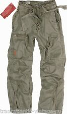 SURPLUS INFANTRY CARGO PANTS MENS VINTAGE ARMY BAGGY COMBAT TROUSER WASHED OLIVE