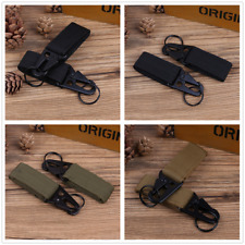 2Pcs Nylon Key Hook Webbing Molle Buckle Outdoor Hanging Belt Carabiner Clip