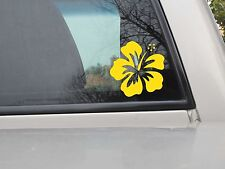 Hibiscus Flower Vinyl Decal Vinyl Sticker- Various Sizes & Colors to Choose From