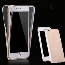 """Clear TPU Full Body Case Cover Skin Protective For iPhone 7 6S Plus SE 5S 5 5.5"""""""