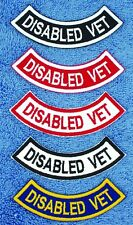 Disabled Veteran Rocker Service Dog Patch  Medical Assistance Support PTSD