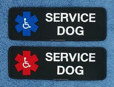 "Service Dog Parametic Handicapped Patch 2X6"" IN Medical Support Assistance"