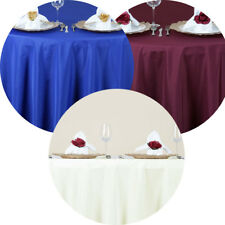 """5 Pack 70"""" Round Seamless Polyester Tablecloth Wedding Party Table Linens"""