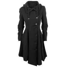 Elegant Womens Winter Warm Long Slim Belt Trench Parka Windcoat Jacket Outwear