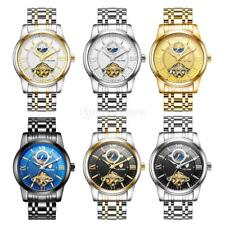 TEVISE Automatic Watch Stainless Steel Mens Mechanical Tourbillion Moon Watch