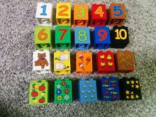 1 lego duplo 2X2X2 bricks printed numbers and corresponding pattern From 1 to 10