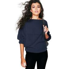 US Autumn Winter Lady Oversized Tops Kniting Batwing Long Sleeves Jumper Sweater