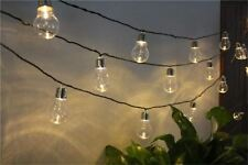8 Modes Solar Ball Shape String Lights Indoor/outdoor For Christmas Decoration