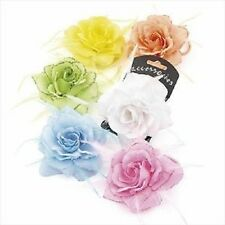 Glitter  Rose Flower Corsage/Hair Elastic Feather Wedding/Parties