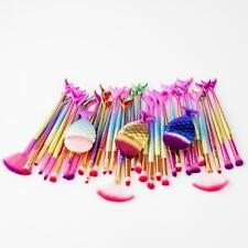 11pcs Pro Mermaid Makeup Brushes Fish Tail Powder Contour Eyeshadow Lip Tool