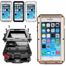 Shockproof Aluminum Glass Metal Case Cover For iPhone X 8 Plus 7 6 6S Plus 5S SE