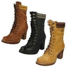 Ladies Spot On Casual Mid Calf Boots