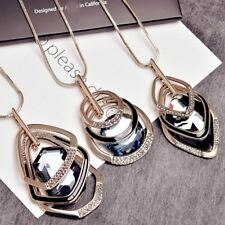 Luxury crystal necklace long design autumn and winter necklace female jewellery