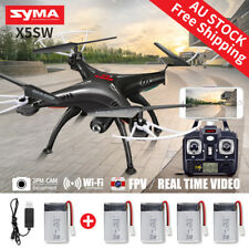 5Batteries Syma X5SW FPV 2.4G 4CH RC Quadcopter Drone Wifi HD Camera&USB AU SHIP