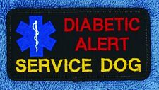 "Diabetic Alert Service Dog Patch 2X4"" Medical Assistance Support"