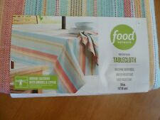FOOD NETWORK WOVEN TABLECLOTH W/UMBRELLA HOLE