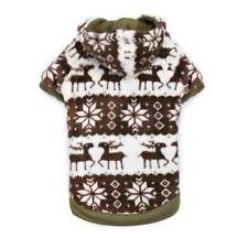 Zack and Zoey Forest Friends Reversible Dog Hoodie - Green