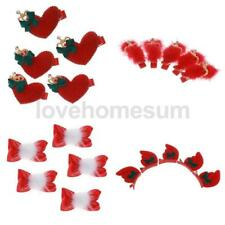 5Ps Christmas Children Kids Crystal Red Hair Accessories Cute Hairpin Hair Clip
