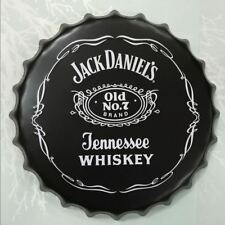 Jack Daniels Tennessee Whiskey Beer Cap Round Vintage Tin Sign