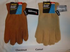 FIRM GRIP Full Suede Deerskin Winter Work Gloves 3M Thinsulate 40G Men's LARGE