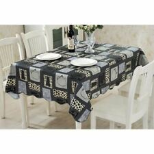 Black Color Water Proof Dust-proof Cover Table Cloth For Home Decor