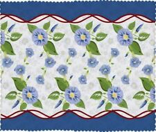 Blue Color Multiple Size Colorful Flower Printed Waterproof Table Cloth