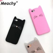 iPhone Case Cute Cartoon Cat Cases 3D Silicone Soft Back Cover