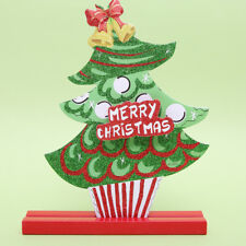 Merry Christmas Foam Plaque Ornaments Freestanding Home Table Decorations