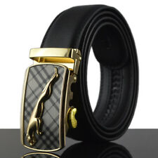 Gold Jaguar Mens Belts Automatic Buckle Genuine Leather Waistband Casual Fashion