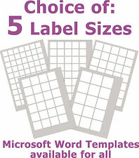 Removable Low Tack Labels Square Matt White Laser Inkjet Stickers 5 A4 Sheets