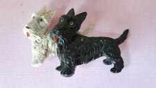 Vintage 50s/60s scottie dogs brooch with moving heads