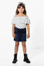 Boohoo Kids Girls Fray Edge Denim Skirt