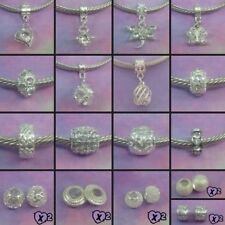 ~ Silver Style Charms/Spacer Beads ~ FOR CHARM BRACELETS ~ 99p Each ~ Gift Bag ~
