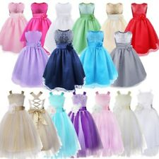 Flower Girl Princess Kid Wedding Bridesmaid Party Formal Ball Pageant Gown Dress