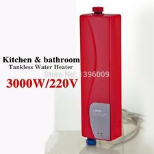 Electric Tankless Water Heater Kitchen Bathroom Lavatory Hotel Hot Water Heater