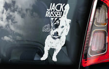 Jack Russell on Board - Car Window Sticker - Russel Terrier Dog Sign Decal - V03