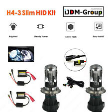 35W H4 Bi-xenon (High HID / Low HID) Conversion HID Slim Kit 43K, 6K, 8K, 10K !