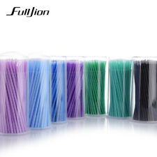 Fulljion 100 Pcs/Pack Jetable Maquillage Brosses Cils Individuels Retrait
