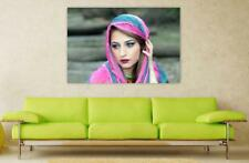 Canvas Poster Wall Art Print Decor Girl Scarf Cover Oriental